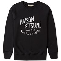 Maison Kitsune Palais Royal Crew Sweat Black