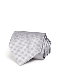 The Men's Store At Bloomingdale's Basket Solid Classic Tie Silver