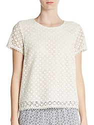 Joie Alsace Lace Tee Open White