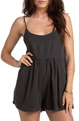 Women's Billabong 'Roadie' Romper Off Black
