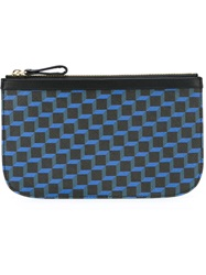 Pierre Hardy Geometric Zip Wallet Blue