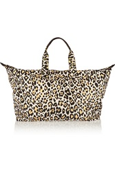 Stella Mccartney Leopard Print Canvas Tote White