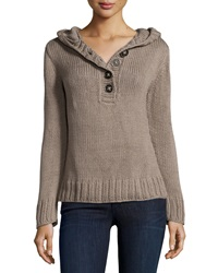 Pure Handknit Hooded Long Sleeve Pullover Davao Puddy