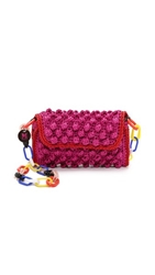 M Missoni Rafia Shoulder Bag Pink