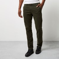 River Island Mens Khaki Franklin And Marshall Skinny Trousers