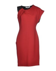 Amaya Arzuaga Knee Length Dresses Brick Red