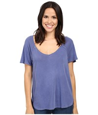 Splendid Vintage Whisper V Neck Tee Vintage Cobalt Women's T Shirt Blue