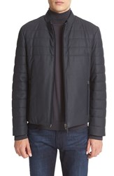 Armani Collezioni Men's Leather Bomber Jacket