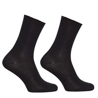 John Lewis Merino Wool Mix Ankle Socks Pack Of 2 Black