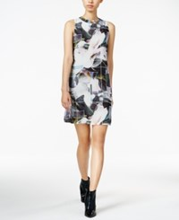 Bar Iii Printed Shift Dress Only At Macy's Black Combo