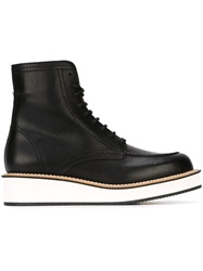 Givenchy Lace Up Ankle Boots Black