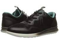 Ecco Genna Sneaker Black Black Women's Lace Up Casual Shoes