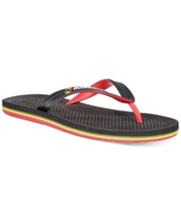 Quiksilver Haleiwa Thong Sandals Black Red Green