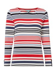 Dickins And Jones Boat Neck Breton Stripe Top Navy Stripe