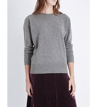 Christopher Kane Metallic Trim Wool And Cashmere Blend Jumper Iron