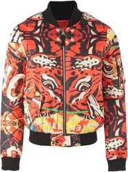 Fifteen And Half Tiger Print Bomber Jacket Multicolour