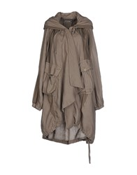 European Culture Coats And Jackets Full Length Jackets Women Khaki