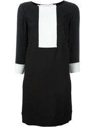 Gianluca Capannolo Contrast Panel Shift Dress Black