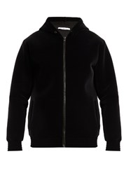 Givenchy Cobra Applique Velvet Hooded Sweatshirt Black Multi
