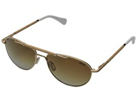 Zeal Optics Fairmont Matte Gold W Gradient Polarized Copper Lens Fashion Sunglasses