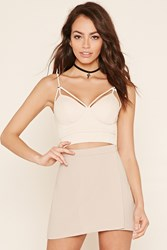 Forever 21 Padded Strappy Crop Top