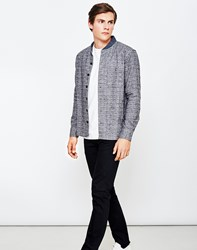 Ymc Delinquents Flannel Baseball Shirt Grey