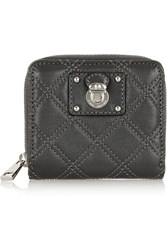Marc Jacobs Anabela Quilted Leather Wallet Gray