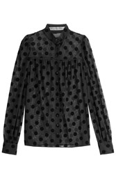 Mary Katrantzou Sheer Polka Dot Blouse Black