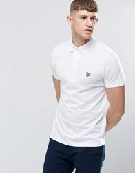 Lyle And Scott Polo Shirt With Woven Collar In White White