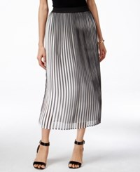 Ny Collection Printed Crinkle Midi Skirt Jet Parach