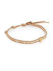Chan Luu Beaded Mother Of Pearl And 18K Yellow Gold Vermeil Bracelet Beige White