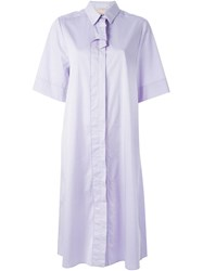 Roksanda Ilincic Roksanda Midi Shirt Dress Pink And Purple