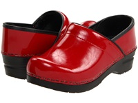 Sanita Professional Patent Red Patent Women's Clog Shoes