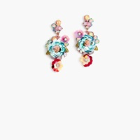 J.Crew Pre Order Blooming Sequin Paillette Earrings Multi Color