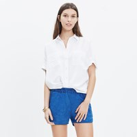 Madewell Pull On Shorts In Indigo Linen
