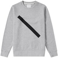 Saturdays Surf Nyc Bowery Slash Crew Sweat Grey