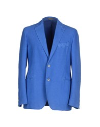 Piombo Suits And Jackets Blazers Men Blue