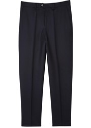 Hugo Heining Navy Tapered Wool Trousers
