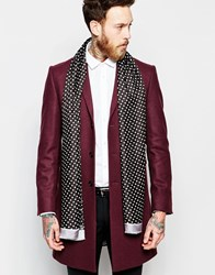 Noose And Monkey Dress Scarf With Spot Black