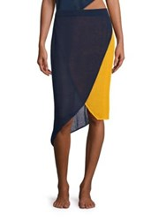 Flagpole Lola Mesh Wrap Skirt Ink Mango
