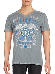Affliction Higher Cast Graphic Tee Silver