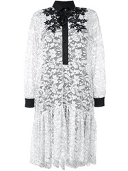 Antonio Marras Floral Lace Shirt Dress White
