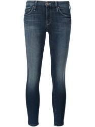 Mother 'The Looker Crop' Jeans Blue