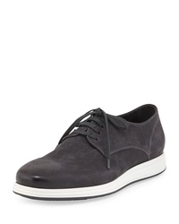 Yuri Nubuck Leather Oxford Midnight Vince