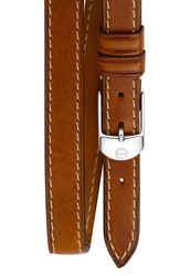 Michele 12Mm Leather Double Wrap Watch Strap Saddle