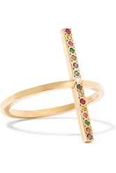 Ileana Makri 18 Karat Gold Diamond And Multistone Ring