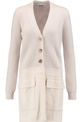 Jil Sander Wool And Cashmere Blend Cardigan Cream