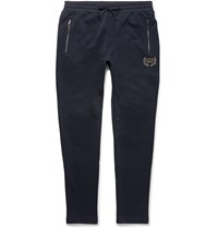 Dolce And Gabbana Slim Fit Cotton Jersey Sweatpants Blue