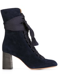 Chloe 'Harper' Ankle Boots Blue