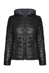 James Lakeland Short Puffer Jacket Black
